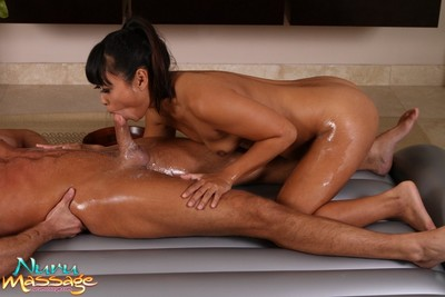 Pretty babes going hot with massage