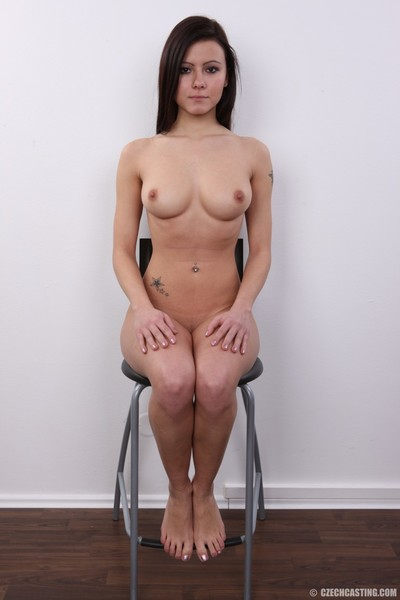 Stunning dark brown amateur way undressed