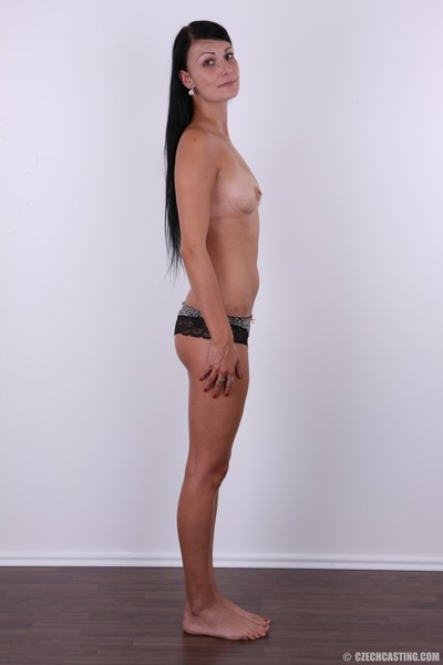 Without clothes dark hair sample posing