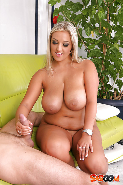 Rubenesque european blond obtains shagged and jizzed over her fatty abdomen