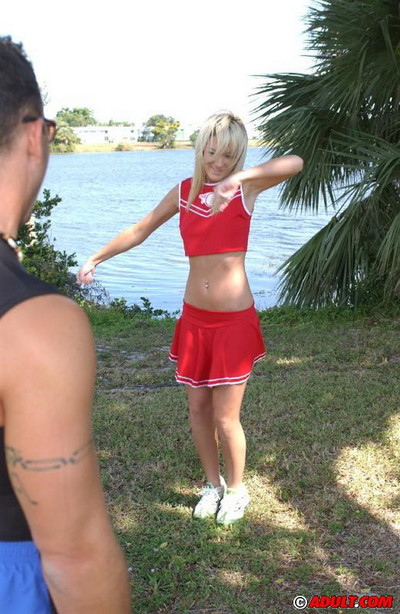 Charming fairy cheerleader getting owned
