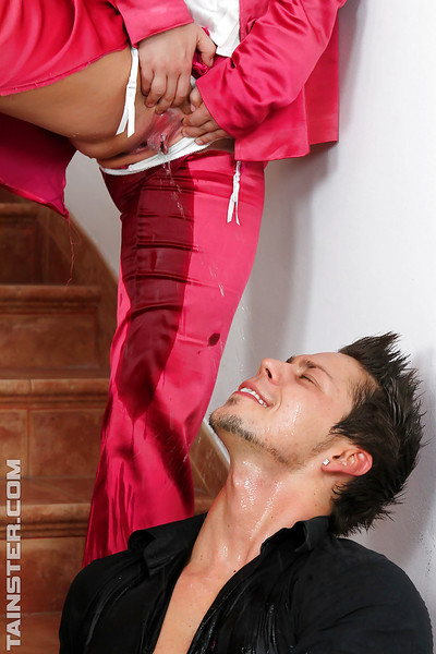 Rachel La Rouge & Attractive Flogger play perfectly covered urtication Male+Male+Female