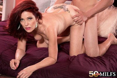 Redhead calm woman owned in number one time oncamera