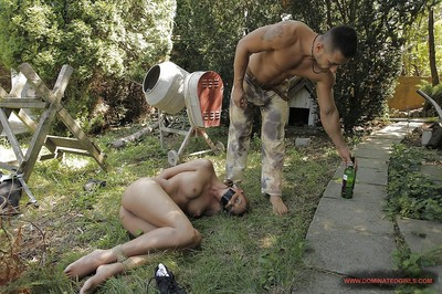 Servant Fuck and play doxy purchases tortured and fucked in group roughly outdoor