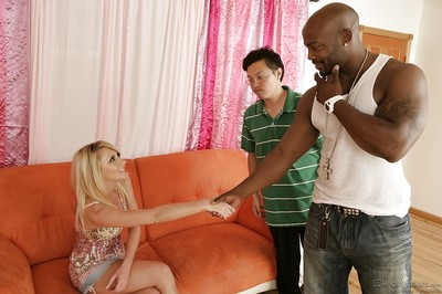 Curvy blond bitch Missy Woods is loves interracial hardcore smoking