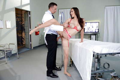 Raunchy nurse Holly Michaels sheds uniform previous to MMF Three-way in nylons