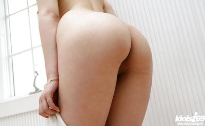 Seductive Japanese chicito Takako Kitahara slipping off her garments