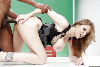 Hardcore interracial ass-pounding and bj from massive tit Milf Julia Ann
