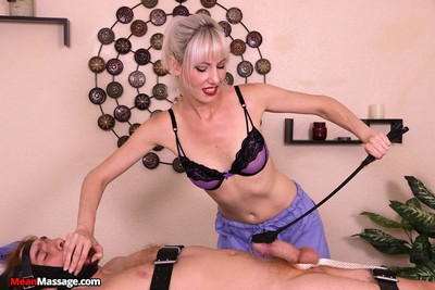 Deviant jane latex fixed firmly teased and tortured males jock
