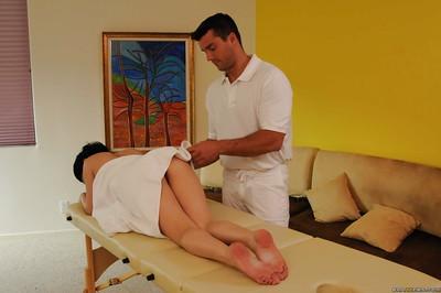 Oiled up latina chicito enjoys oily corporeal massage and hardcore twatting