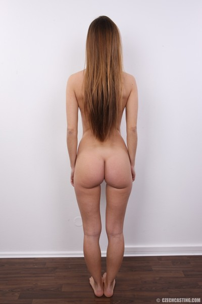 Charming brown hair with unshaved fur pie