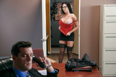 Chesty office worker Sybil Stallone tit astonishingly wang at cultivate