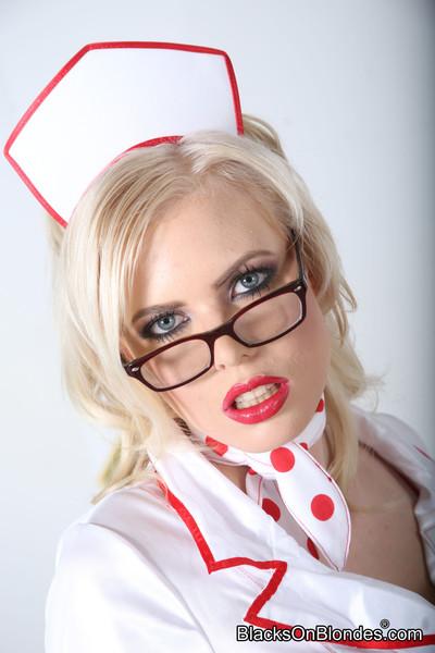 Sexually aroused nurse kristy snow attains team-banged