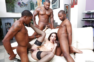 Hottie Marley Blaze is having an admirable interracial fuckfest