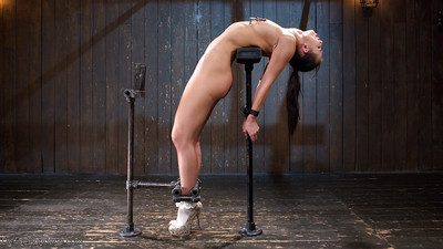 Fabulous beauty Aidra Fox finds her charming face encased in stocks