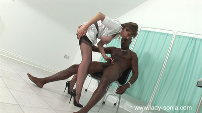 Milf fixation nurse lady sonia prostate play a mammoth ebon pecker dry