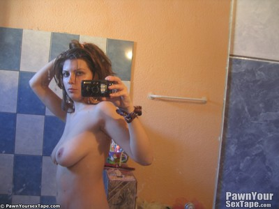 Clammy giant titty lory takes some alluring mirror fotos of she