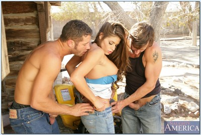 Comely hottie Madelyn Marie purchases dualistic knobs to blow and fuck in a hut