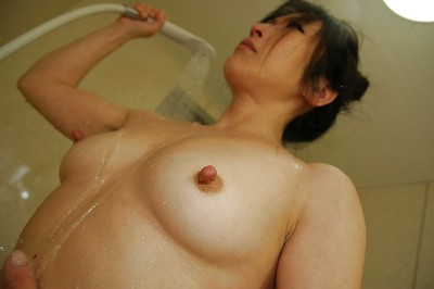Japanese darling with tough boob points Harue Nomura attractive baths and washroom
