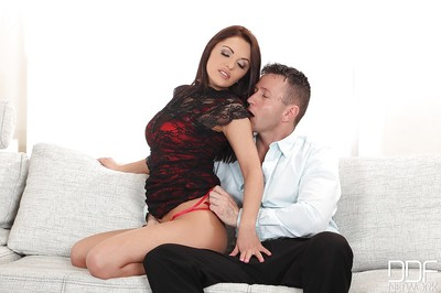 European dark brown Dominica Phoenix has her inflexible gentile fingered