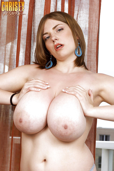 fatty lass with biggest titties Christy Marks very and showing her cum-hole