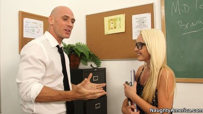 Bookworm ashley stone enticed by her sexually aroused advisor