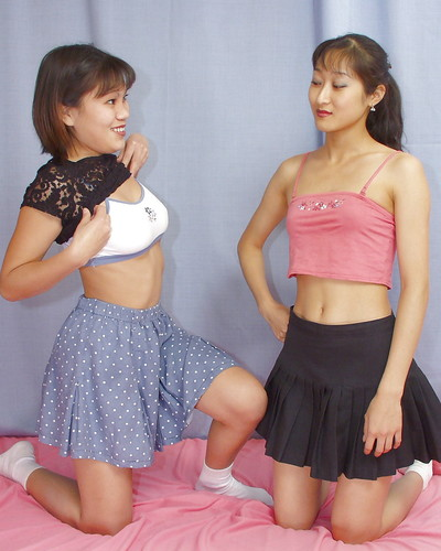 Lecherous Chinese lassies have some erotic dancing and female-on-female humping pleasure