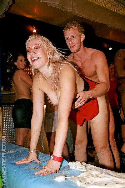 Mucky hotties getting shagged hardcore by chap strippers at the drunk all together