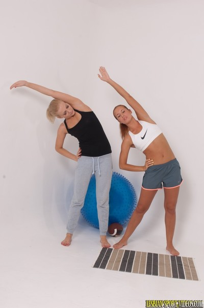 Uncovered fitness with woman-on-woman banging swells