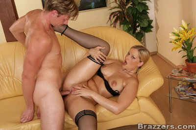European girl Sandra De Marco gives a dick sucking and takes anal-copulation
