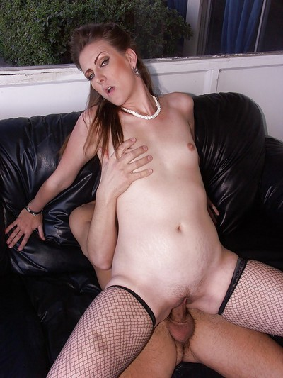 Saucy MILF Miss Lady blows and jazzes a severe rod for a wet crack creampied