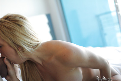 Golden-haired milf Cherie Deville enjoys hardcore fucking with her fan