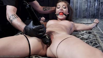 Beauty next door Dani Daniels pleasant painful coercive masturbation of cage of love