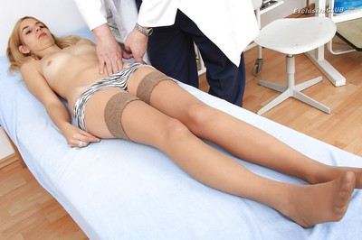 Fuckable fairy in stockings receives involved attracted to obsession gyno exam deed