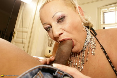 Lascivious mama admires getting a warm creampie