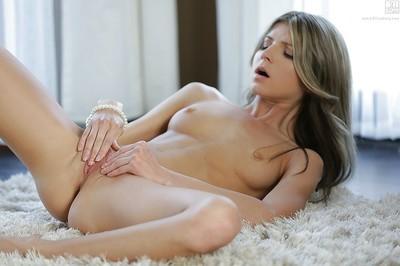 Sweet solo dear Doris Ivy showing off tense buttocks in strap underwear