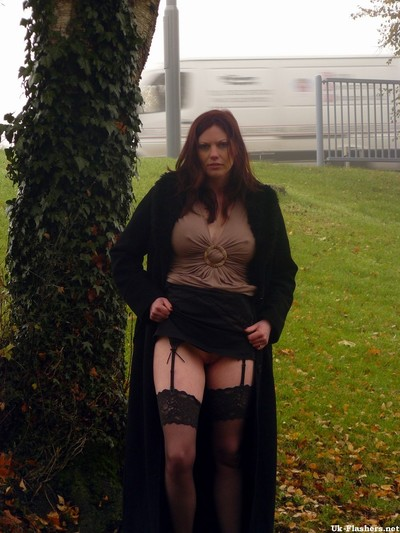 Teen milf on a day out at the local park