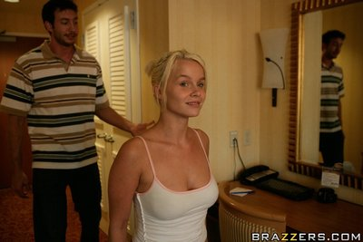 Boobsy wife Melissa Lauren benefits from her muff penetrated tough with a colossal knob