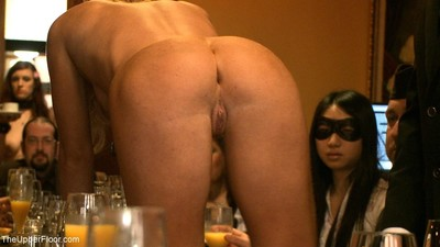 Group of submissive darlings in bondage lesbian hotties R/L get-together