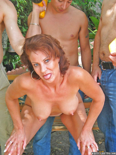 Seasoned mother with largest meatballs Jillian Foxxx enjoys unbelievable groupsex