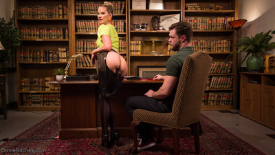 Mike panic books an appointment with maitresse madeline marlowe. this girl invites him