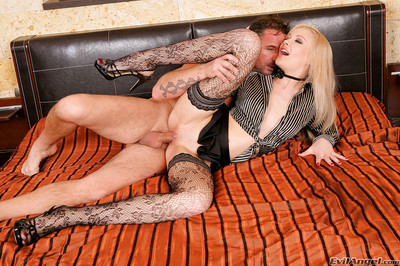 Gutsy golden-haired Logan gets purely hardcore fucking action with perspired guys