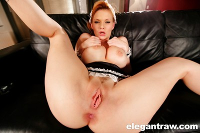 Exceedingly busty pornstar Tarra White showing off her fabulous wobblers
