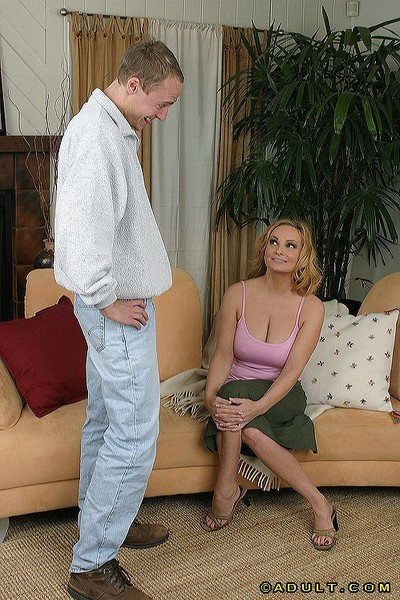 Deep-bosomed blond MILF receives shagged for spunk in her gullet