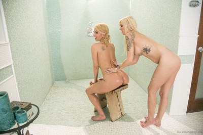 Jana jordan and aaliyah love shower-room for double