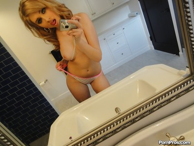 Hawt darling Molly Bennett erotic dancing in the shower and picturing she is