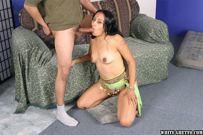 Sexually excited indian cutie purchases her hirsute twat slammed hardcore and creampied