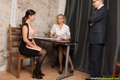 Job auditions including an unexpected erotic dancing