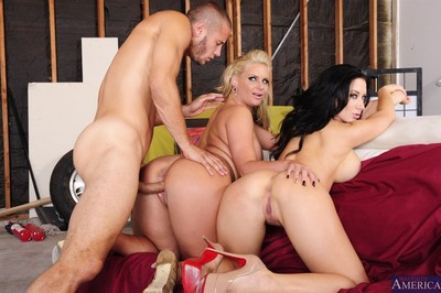 Dual clammy milfs penetrated in hardcore banging images