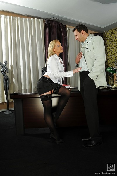 Excited european secretary seduces her boss and acquires shafted properly